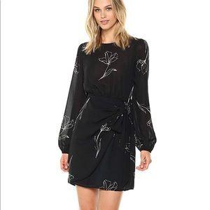 ASTR the Label Tie Skirt Long sleeve Dress